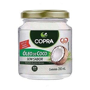 Oleo De Coco Sem Sabor Copra Pote 200 ml