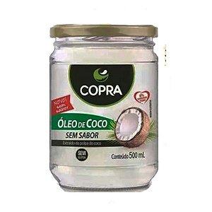 Óleo De Coco Sem Sabor Copra Pote 500 ml