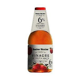 Vinagre de Fruta Maçã 6% Acidez 400 ml Senhor Viccino