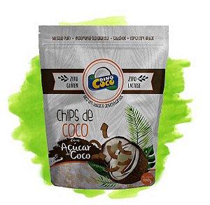 Chips de Coco Queimado com Açúcar de Coco 100 grs Dinococo