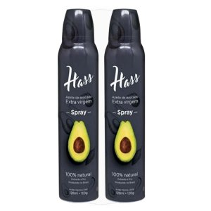 Kit 2 Azeite Hass 128 Ml Cada Spray Óleo De Abacate Avocado