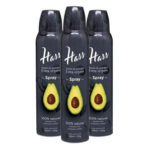 Kit 3 Azeite Hass 128 Ml Cada Spray Óleo De Abacate Avocado