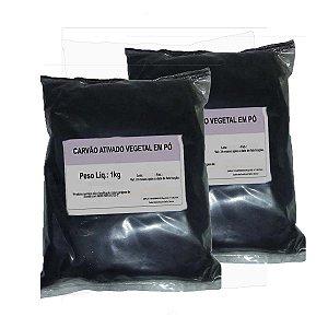 2 Carvão Ativado Em Pó - O Melhor Para Clarear Dentes - 1kg
