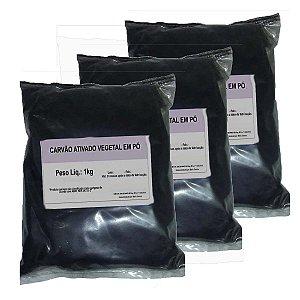 3 Carvão Ativado Em Pó - O Melhor Para Clarear Dentes - 1kg