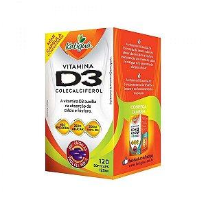 Vitamina D3 - 120 Cáps 125mg Para Fortalecer Ossos Dentes