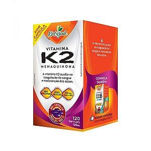 Vitamina K2 Menaquinona 120 Cápsulas 125 mg Katigua