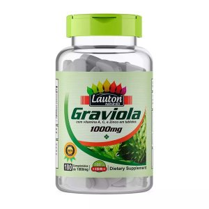 1 Graviola 1000mg 180 Tabletes Lauton Nutrition