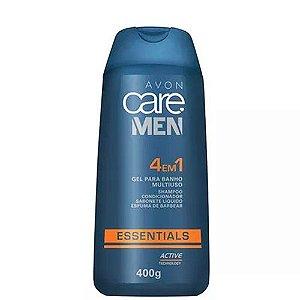 Sabonete Gel para Banho Multiuso 4 em 1 - Avon Care Men Essentials / 400g