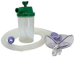 Conjunto Nebulização Continua Oxigênio com Traqueia em Silicone e Mascara Infantil