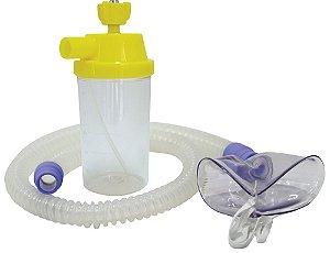 Conjunto Nebulização Continua AR Comprimido com Traqueia em Silicone e Mascara Adulto
