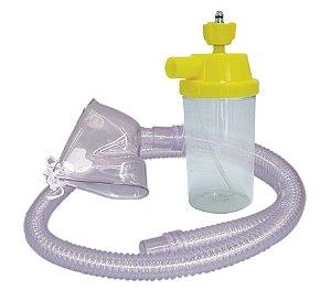 Conjunto Nebulização Continua AR Comprimido com Traqueia em PVC e Mascara Adulto