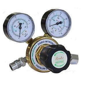 Válvula Reguladora de Pressão para Cilindro com 2 Manômetros – Oxido Nitroso