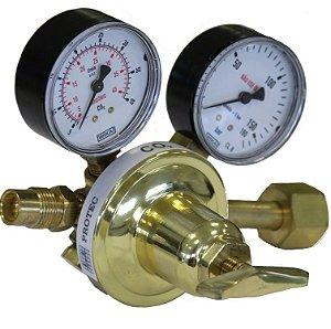 Válvula Reguladora de Pressão para Cilindro com 2 Manômetros – CO2