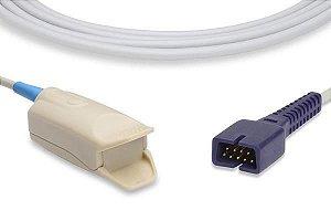 Sensor de Oximetria Compatível com NELLCOR OXIMAX - Clip