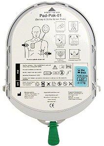 Cartucho Eletrodos com Bateria Padpak Heartsine Adulto