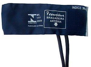 Braçadeira Premium Infantil Nylon Velcro com Manguito 2 Vias