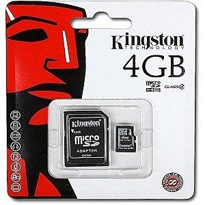 CARTÃO DE MEMORIA MICRO SD 4GB KINGSTON