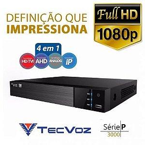 DVR 5 EM 1 TECVOZ 8 CANAIS FULL HD - TW-P3008