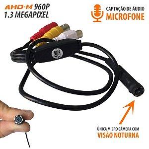 Micro Câmera AHD com infravermelho ( 1.3MP | 960p | 3.6mm)