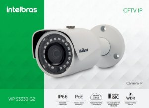 Câmera Intelbras Bullet Onvif IP VIP S3330 G2 Super HD ( 3.0MP | 1536p | 3.6mm | Metal )