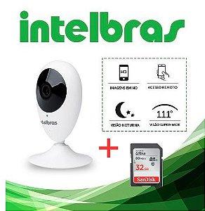 KIT CÂMERA WI-FI INTELBRAS HD MIBO IC3 + cartão micro-SD SD 32Gb Ultra, classe 10