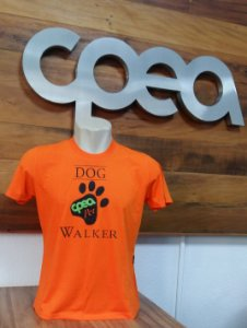 CAMISETA DOG WALKER LARANJA