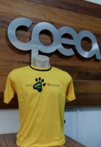 CAMISETA DOG WALKER AMARELA