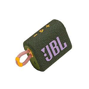 Caixa de Som Portátil JBL GO 3 - Bluetooth, À Prova D'água e Poeira, Green