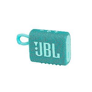 Caixa de Som Portátil JBL GO 3 - Bluetooth, À Prova D'água e Poeira, Teal