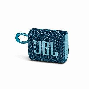 Caixa de Som Portátil JBL GO 3 - Bluetooth, À Prova D'água e Poeira, Blue