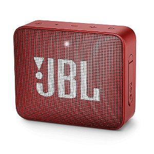 Caixa de Som Portátil JBL GO 2 - Bluetooth, À Prova D'água e Poeira, Red