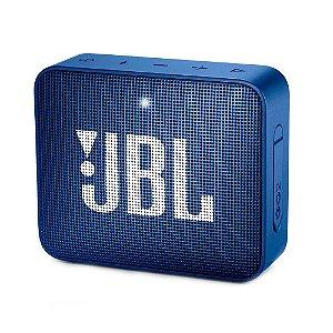 Caixa de Som Portátil JBL GO 2 - Bluetooth, À Prova D'água e Poeira, Blue