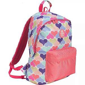 Mochila Samsonite XTREM Joy 820 Continue Hearts Rosa Azul