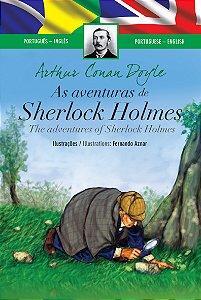 As Aventuras de Sherlock Holmes (Edição Bilingue, Capa Dura)