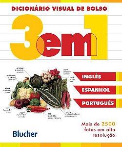 Dicionário Visual de Bolso 3 em 1 - Inglês / Espanhol / Português