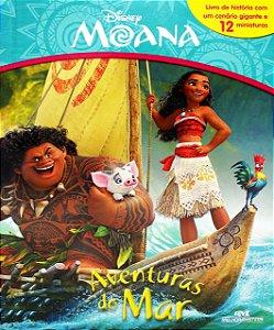 Moana - Aventura No Mar - Livro com Cenário e Miniaturas