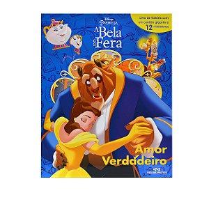 Amor Verdadeiro - Disney Princesa, A Bela e a Fera - Livro com Cenário e Miniaturas