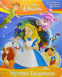 Clássicos Disney - Histórias Encantadas - Livro com Cenário e Miniaturas