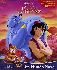 Aladdin – Um Mundo Novo - Livro com Cenário e Miniaturas