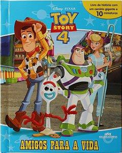 Toy Story 4 – Amigos para a Vida - Livro com Cenário e Miniaturas