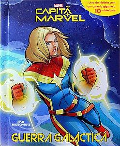 Capitã Marvel – Guerra Galáctica - Livro com Cenário e Miniaturas