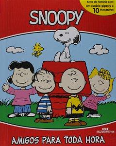 Snoopy – Amigos Para Toda Hora - Livro com Cenário e Miniaturas