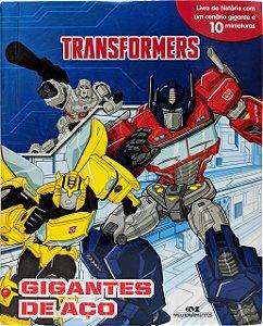 Transformers - Gigantes de Aço - Livro com Cenário e Miniaturas