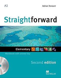 Straightforward 2nd Edition Workbook W/Audio CD-Elem. (W/Key)