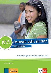 Deutsch Echt Einfach, Kurs- Und Übungsbuch + Audios Und Videos Online - A1.1