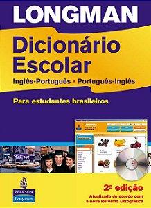 Longman Dicionário Escolar - Inglês/Português - Português/Inglês - Para Estudantes Brasileiros