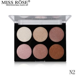 Paleta Glow Kit Miss Rôse com 6 Tonalidades N2