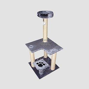 Arranhador 3007 CI  Cinza com Catnip