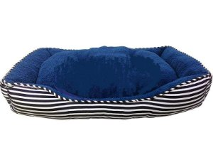 Cama Retangulo Soft Aveludada Azul Vdk