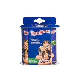 Removedor Refil Pêlos Pet Stick 80 Folhas
